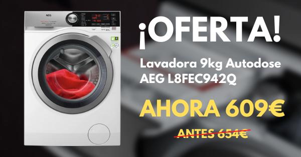 Oferta lavadora AEG L8FEC942Q